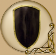 LARP RFB Kite shield black-gold
